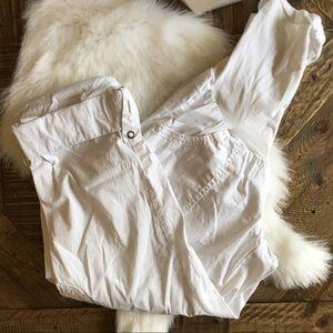 MOTHERHOOD MATERNITY White Roll Up Cargo Pants